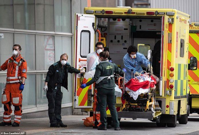 The UK coronavirus epidemic is expected to worsen before improving, said Health Secretary Matt Hancock (photo: paramedics working in London).