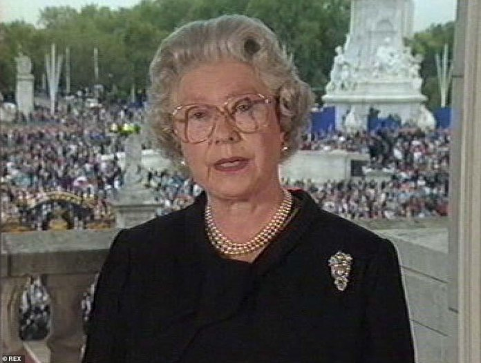 Queen speaks to the nation in 1997 about the death of Diana, Princess of Wales
