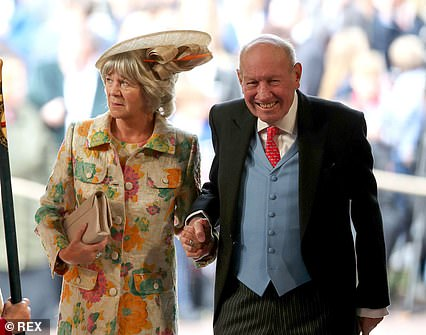 George Brooksbank, 71, whose son Jack married the queen's granddaughter in 2018, is said to be in