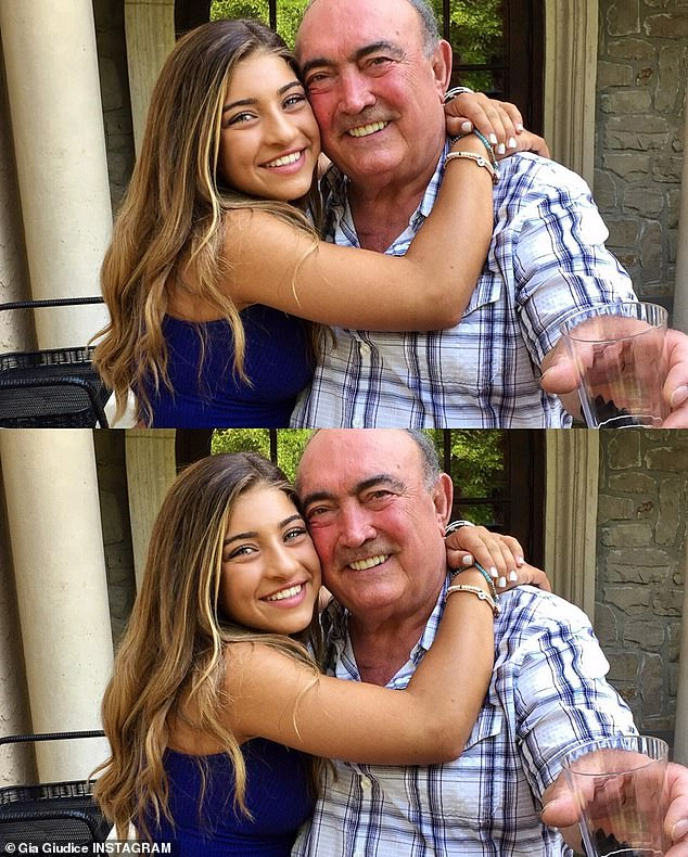 Saying goodbye: Teresa's daughter Gia shared her own remember of her grandfather on Instagram. 'today I lost my best friend but gained a beautiful guardian angel that will look over me forever'