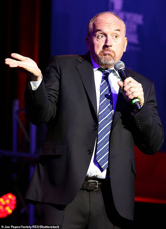 Shunned comedian: Louis has been mostly absent from the spotlight in recent years, ever since allegations arose in the fall of 2017 accusing him of sexual misconduct; seen in 2016