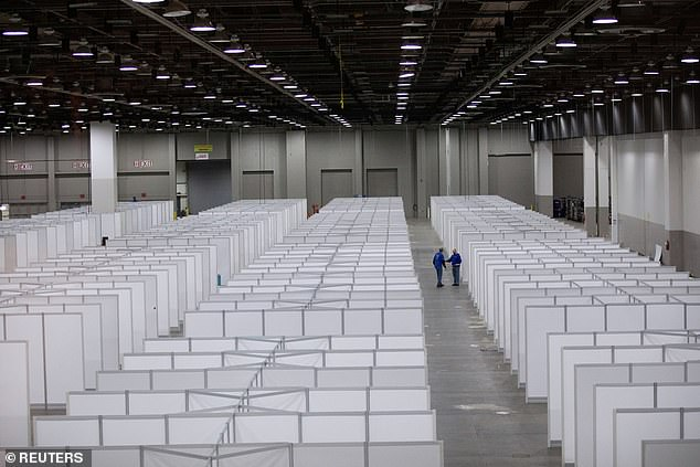 In Detroit, the TCF convention center has been converted into a field hospital. Detroit now has the most deaths of any US metro area other than New York City