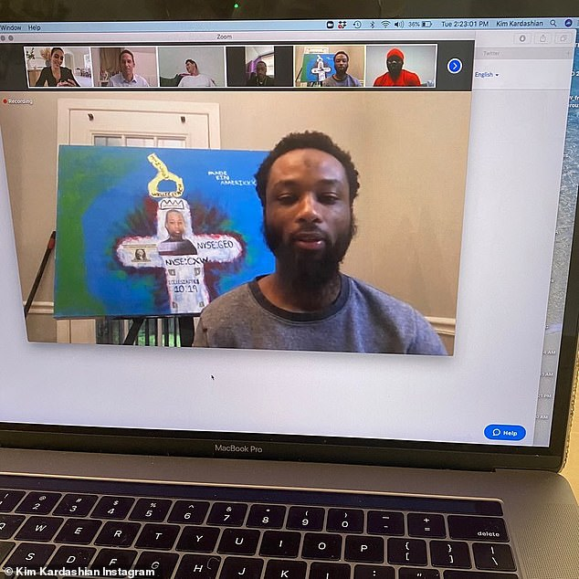 Virtual meeting: She shared this when she appeared in the Zoom chat