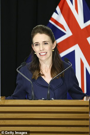 Prime Minister Jacinda Ardern speaks to media during a press conference at Parliament on April 05