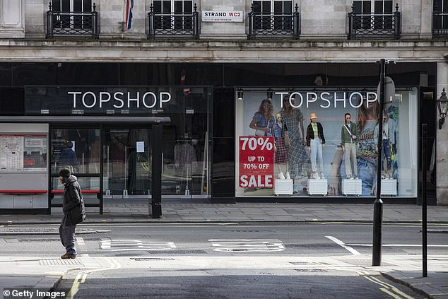 Topshop and Dorothy Perkins owner Arcadia is 'preparing to close a huge number' of its 550 stores