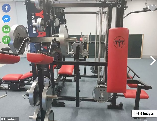 One Gumtree user even listed an entire home gym for sale for an eye-watering $16,000 (pictured)