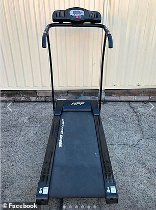 Another listed an old treadmill for $280 (pictured), with some online saying they thought it was outrageous people were charging so much