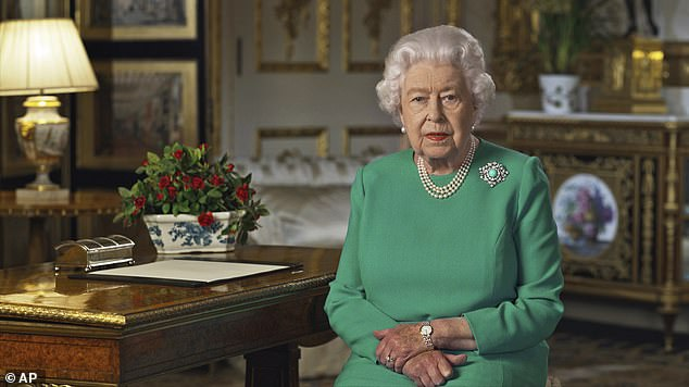 Queen Elizabeth II addressed the nation and the Commonwealth from Windsor Castle on Sunday
