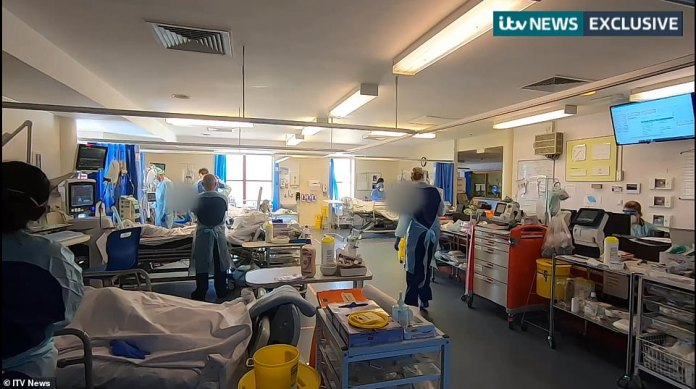 A glimpse inside the Royal Bournemouth Hospital (RBH) shows the daily routine of frontline health workers, whom they described as emotionally draining and potentially perilous
