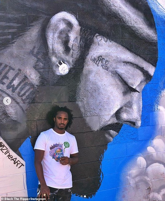 Respect: The news of the musician's death comes almost a year to the day after he posed in front of the store in Los Angeles belonging to the murdered rapper Nipsey Hussle to pay tribute to him.