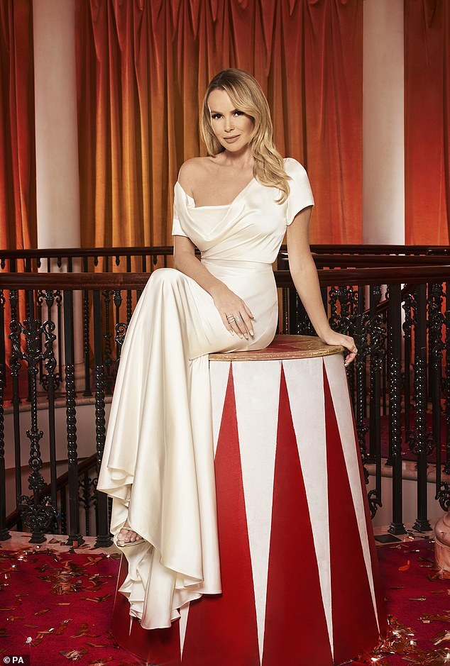 Shocked: Amanda Holden admitted that her friend and the weight loss of Simon Cowell, the boss of Britain's Got Talent, is `` crazy ''
