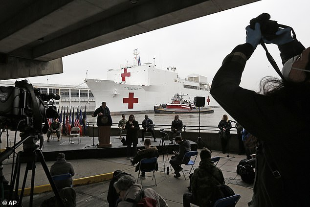 'That was not supposed to be for the virus at all and under circumstances, it looks like more and more we'll be using it for that,' Trump said Sunday. 'The ship is ready and if we need it for the virus, we'll use it for that.'