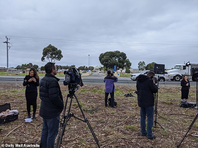 Journalists camped outside of Barwon prison and others staked a Kew monastery where Cardinal Pell was to reside Tuesday evening.