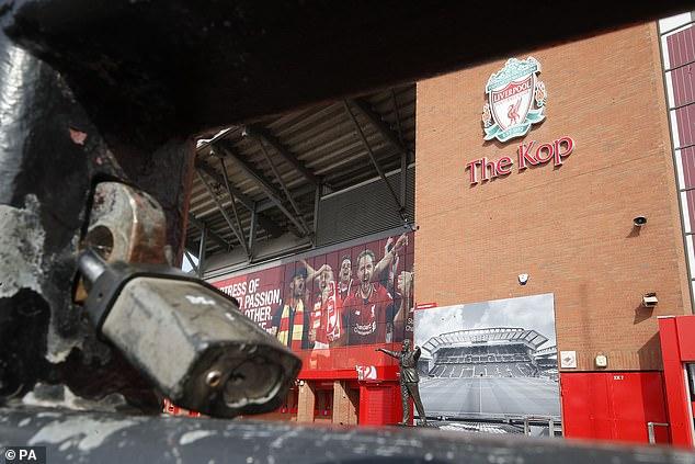 Anfield doors are closed as coronavirus pandemic stops football