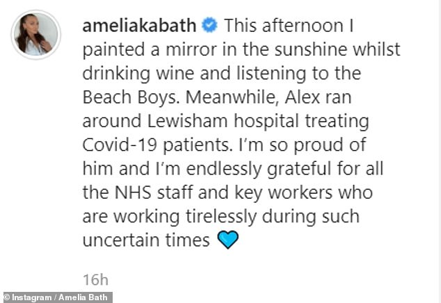 'I'm so proud of him':Reality TV star Amelia has shared her delight over Alex's career