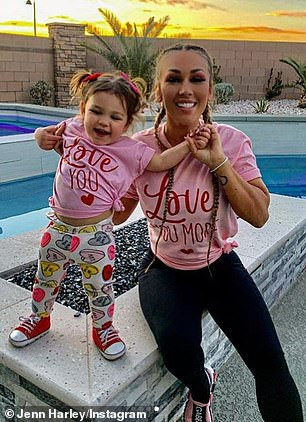 Jersey Shore star Ronnie Ortiz-Magro hasn't seen his daughter Ariana Sky or his babymama Jen Harley(pictured February 14) 'in months' due to the emergency protective order she filed against him in October when they split