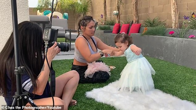 'It's been put off': Little Ariana is being solely cared for by Magro's 32-year-old estranged ex-girlfriend at her Las Vegas home, and the global coronavirus pandemic is delaying their next court date (pictured last week withphotographer Chasity Perez)