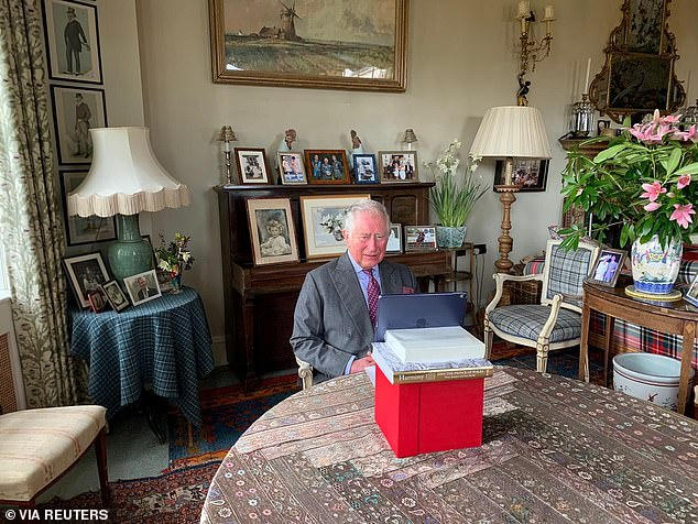 Katherine said Prince Charles's `` improvisation desk '' reflected a dedication to work and a determination to work `` wherever he could. ''