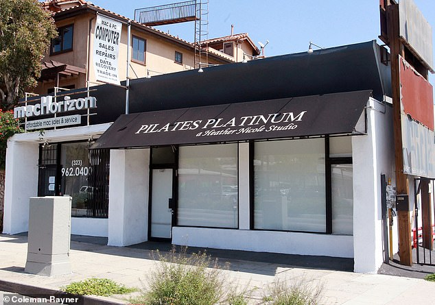 Meanwhile, Heather Dorak, a close friend of Meghan, runs a chain of studios called Pilates Platinum (pictured) in the city. Writing a testimonial for her website, Meghan described it as `` the best workout in town ''