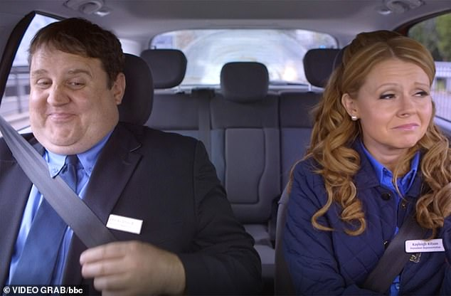 Popular: Avid fans even starting a petition for a third series of Car Share after it ended, but have had no luck. Peter did release an audio special in April as well as the new sketch in the NHS tribute book (the comedian is pictured as character John alongside Kayleigh in the show)
