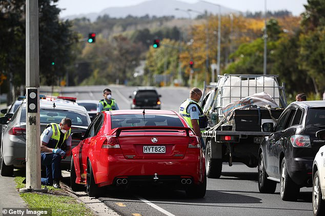 Police take extra precautions before Easter weekend, setting up traffic checkpoints to verify people are traveling for essential reasons (photo by Warkworth Thursday)