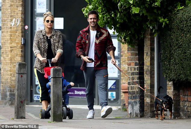 Congratulations: Vogueannounced she is expecting baby number two - a little girl - last month and she is now six months pregnant