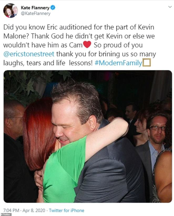 Audition:There were also a few celebs who chimed in, including The Office star Kate Flannery, who mentioned that Eric Stonestreet had originally auditioned to play Kevin Malone, which was played by Brian Baumgartner on The Office