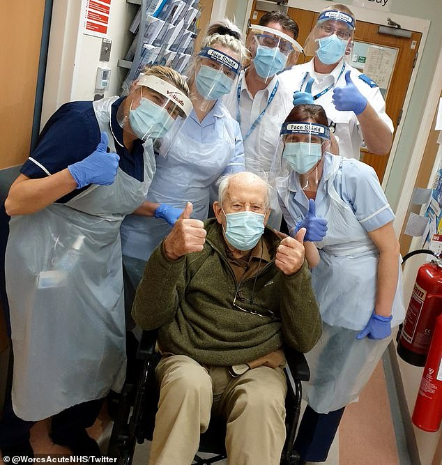 Keith Watson, 101, became the oldest person in the country to recover from coronavirus on Thursday after being treated at Alexandra Hospital in Redditch