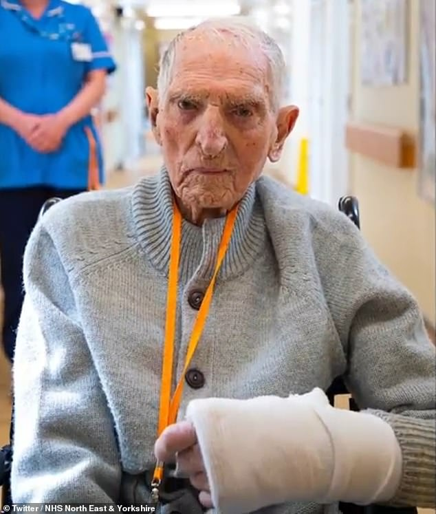 Albert Chambers, 99, recovered from coronavirus after being treated at Tickhill Road Hospital in Doncaster