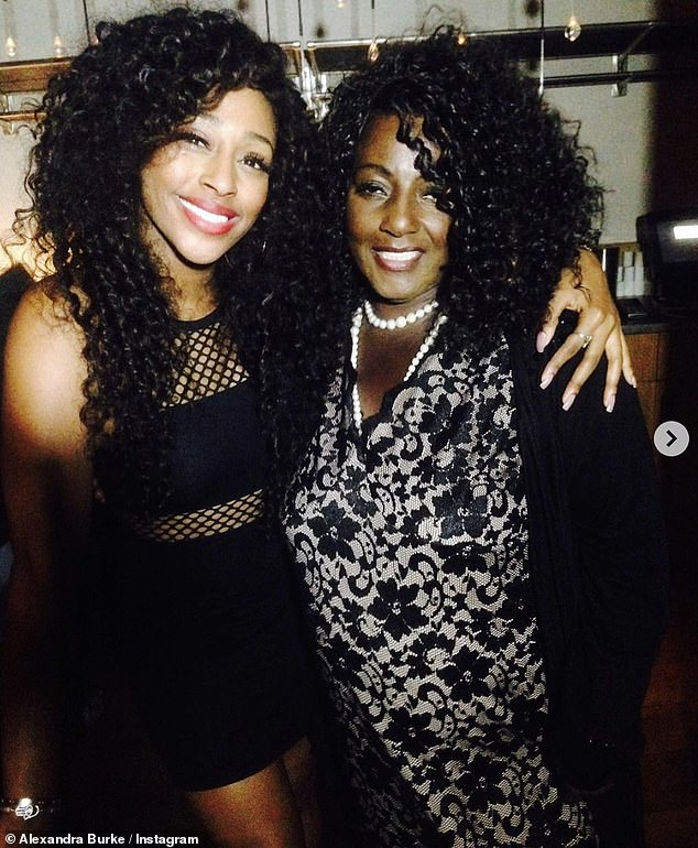 Tough time: Alexandra Burke revealed on Saturday that she had a `` major panic attack '' after being unable to visit her mother's grave during the lockout