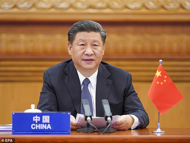 Chinese President Xi Jinping attending extraordinary G20 virtual leaders' summit on COVID-19 via video link in Beijing on March 26, 2020, amid discussions on a cover-up