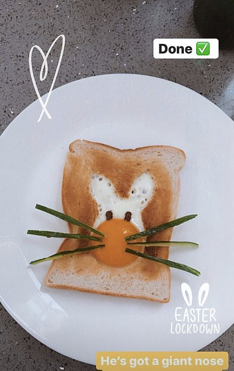 How: Stacey gave subscribers a step-by-step guide to preparing the Easter-themed breakfast