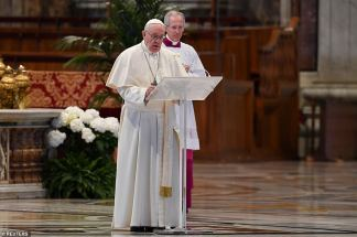 Pope Live-Streams Sermon from Empty St Peter's Basilica