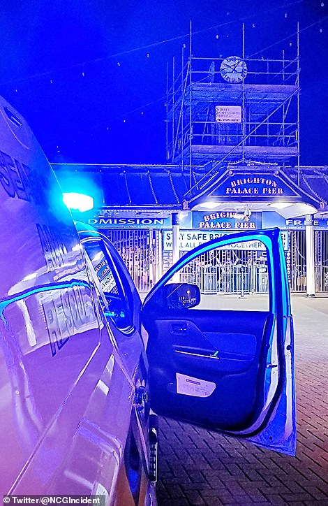Coast Guard called to Brighton Pier after diver spotted fishing Saturday night