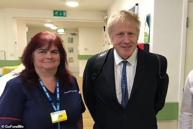 Sara Trollope (pictured with Prime Minister Boris Johnson last year), 51, was months away from retirement when she became another hero named deadly virus victim