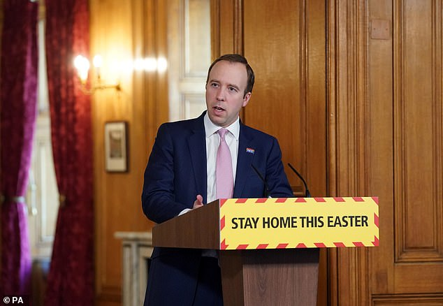Health Secretary Matt Hancock (photo) promised today that we will not rest until NHS staff receive protective gear.