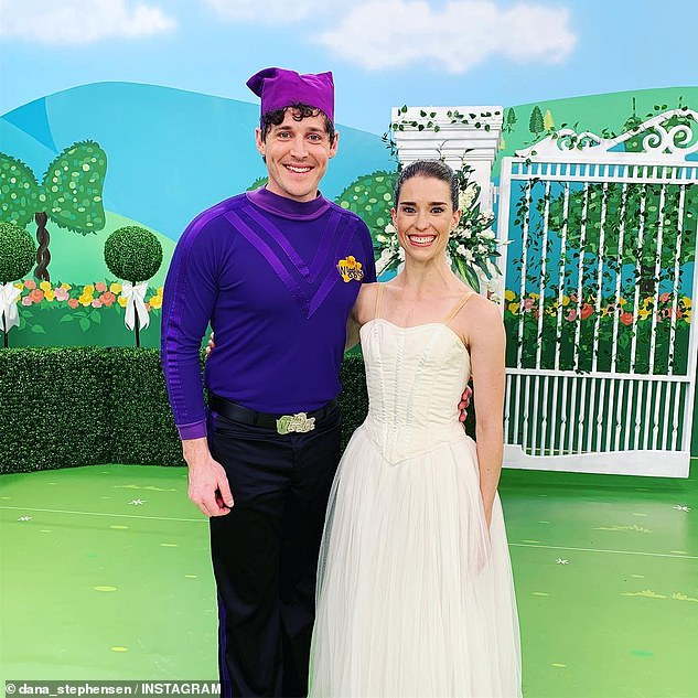 Cute couple: Lachlan met Dana on set of The Wiggles' television show in December 2018