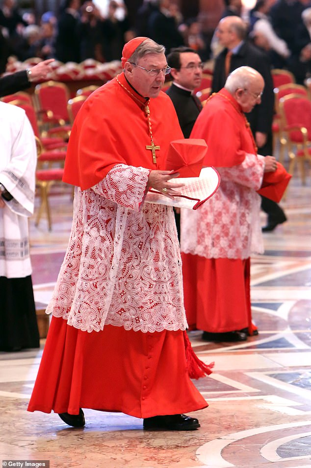 Cardinal Pell (pictured in St Peter's Basilica in the Vatican City in 2013) has always maintained his innocence. He was not told of the reported fresh investigation until Monday