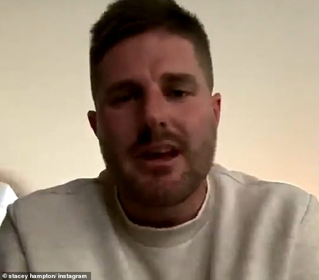 Telling all: Stacey told radio personality Bryce Ruthven (pictured) in an Instagram Live interview on Tuesday that she broke her contract to defend herself and her reputation
