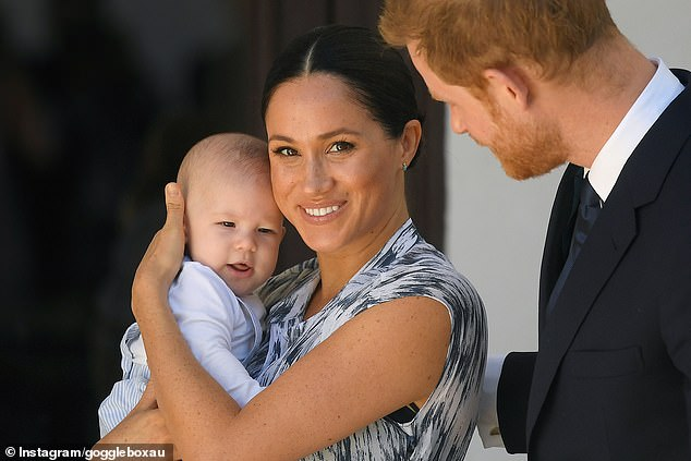 Anne is not referring to any particular royal family, but 2020 has already seen the Duke and Duchess of Sussex resign as members of the Royal Family as they prepare to launch a new charity, Archewell, of the United States. United. Pictured Harry, Meghan and Archie in South Africa last year