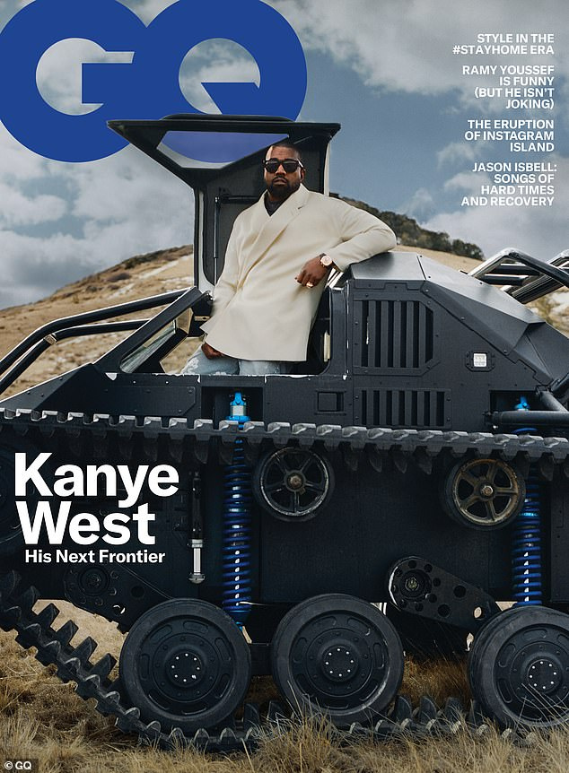 West gave a series of large-scale interviews with GQ for their May 2020 cover article. Photos taken on site at West Lake Ranch in Cody, Wyoming by Tyler Mitchell. The issue will be available on newsstands on April 21.
