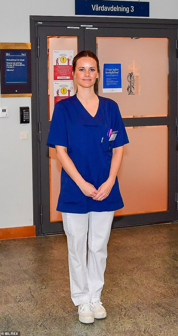 Princess Sofia of Sweden starts work as a healthcare assistant to ...