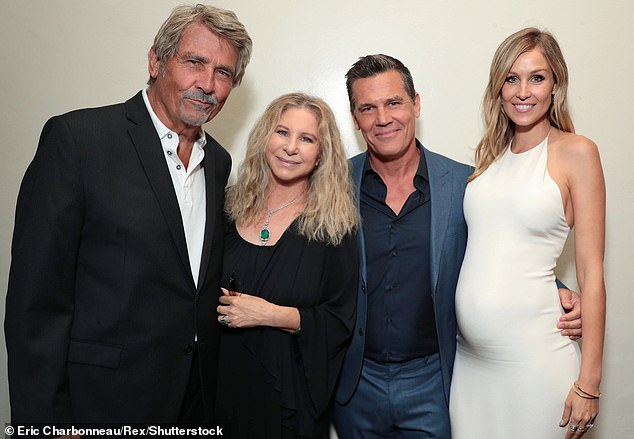 Unmasked: James, Barbra, Josh and Kathryn are pictured together at the Los Angeles 2018 premiere of the film by young Brolin Sicario: Day Of The Soldado