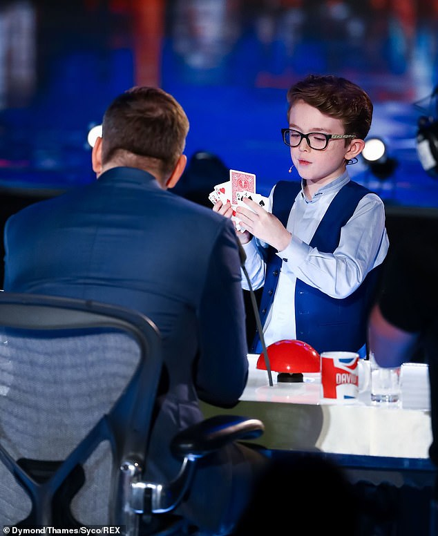 Cute: the magician Aidan Mccann will try to work his magic on the judgment board
