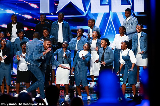 Singing sensations: Shalom Choir singers will also audition on Saturday's show
