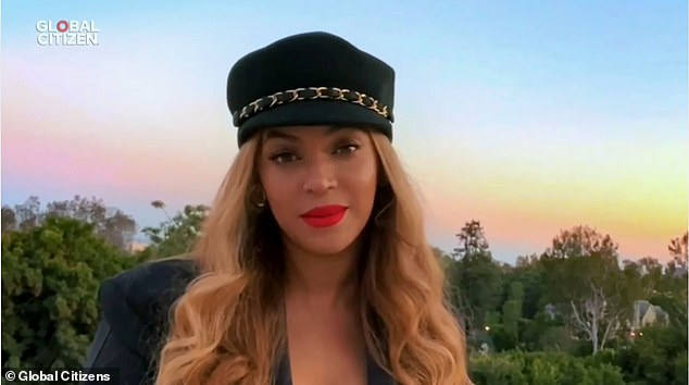 Passionate: Beyonce gave a passionate speech on how COVID-19 `` seriously affected '' the African-American communities during her concert at the One World: Together at Home Saturday