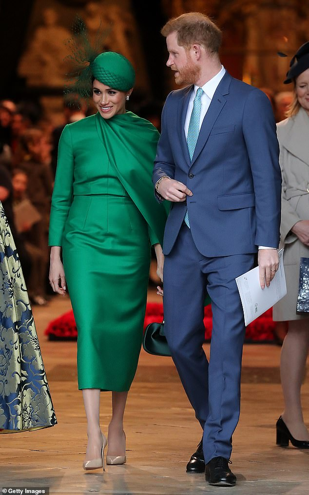 Prince Harry, 35, and Meghan Markle, 38, rent an 8-million-pound mansion, a source said. In the photo, participating in the Commonwealth Day Service 2020 on March 9, 2020 in London