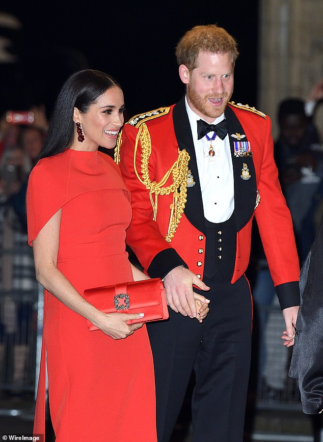 Prince Harry and Meghan Markle attend the Mountbatten Festival of Music at the Royal Albert Hall on March 7, 2020 in London