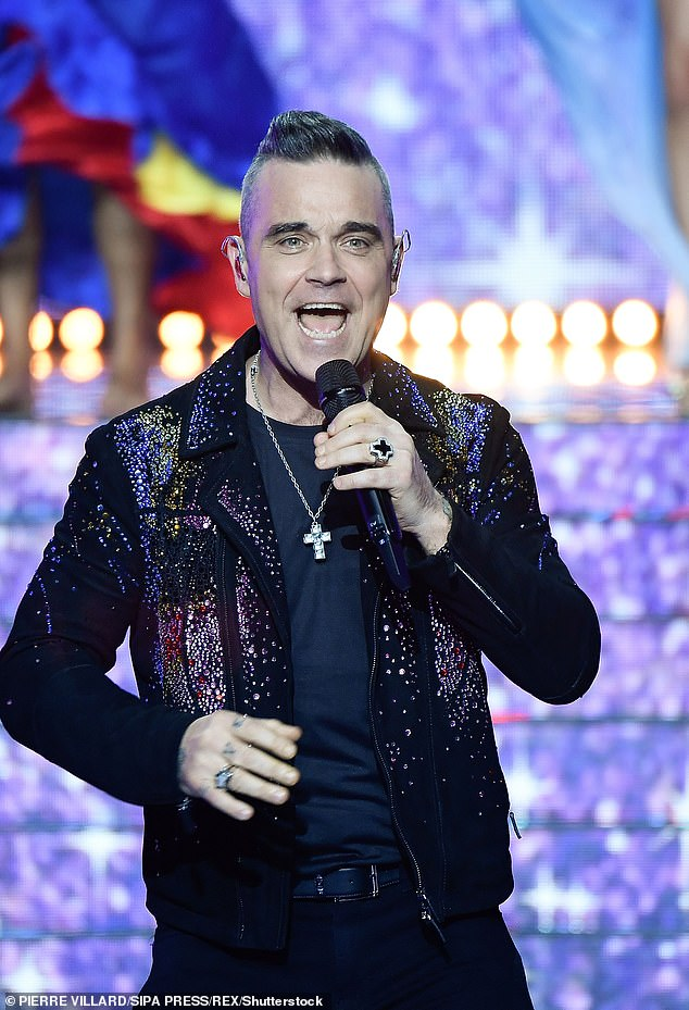 Speaking: Robbie Williams reportedly labeled UK 'delusional' about drink and drug culture at Instagram Live Friday night