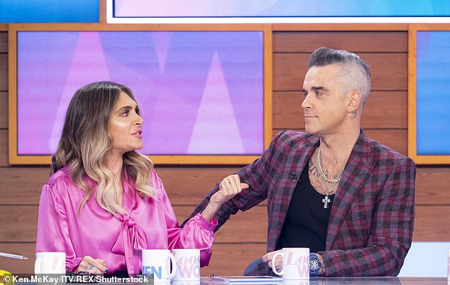 Lifestyle change: Robbie has been open about his battle with drinks and drugs in the past, admitting that meeting his wife Ayda forced him to end his hedonistic lifestyle